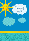 Sunshine Thinking of You 5x7 Folded Card