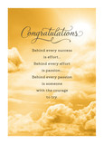 Clouds Congrats 5x7 Folded Card