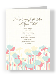 Graphic Floral Loss of Child 5x7 Folded Card