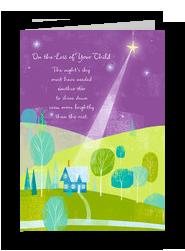 Starlight Loss of Child Sympathy 5x7 Folded Card