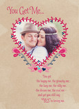 Heart Shaped Photo Card 5x7 Folded Card