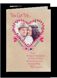 Heart Shaped Photo Card 5x7 Folded Card