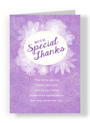 Purple Thank You Card 5x7 Folded Card
