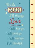 For the Man I'll Always Love 5x7 Folded Card