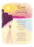 Romantic Watercolor Beach Scene 5x7 Folded Card