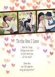 Photo Strip with Watercolor Hearts 5x7 Folded Card