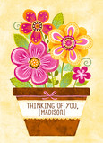 Colorful Floral Thinking of You 5x7 Folded Card