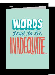 Words Lettering Design 5x7 Folded Card