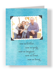 Sympathy Memorial Photo - Masc 5x7 Folded Card