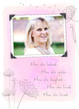 Sympathy Memorial Photo - Fem 5x7 Folded Card