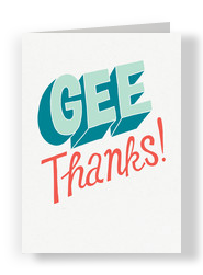Gee, Thanks! 5x7 Folded Card