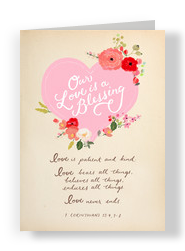 Love is a Blessing 5x7 Folded Card