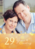 Anniversary Photo with Sparkles 5x7 Folded Card