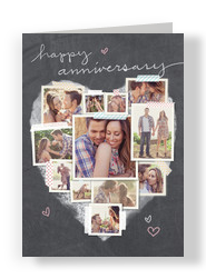 Anniversary Photo Collage 5x7 Folded Card