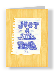 A Little Note Miss You 5x7 Folded Card