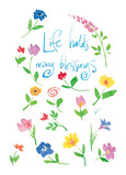 Watercolor Floral Blessings 5x7 Folded Card