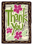 Woodcut Thank You 5x7 Folded Card