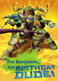 Turtle Power Birthday 5x7 Folded Card
