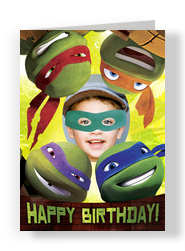 Ninja Turtle Photo Head 5x7 Folded Card
