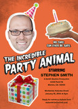 The Incredible Party Animal Invite 5x7 Flat Card