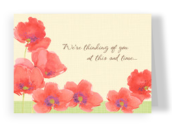 Watercolor Floral Sympathy 7x5 Folded Card