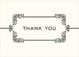 Sophisticated White & Black Thank You 7x5 Folded Card
