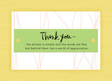 Green Attachment Thank You 7x5 Folded Card