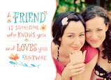 Friendship Watercolor with Photo 7x5 Folded Card
