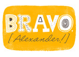 Bravo Lettering Design 7x5 Folded Card
