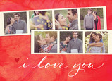 I Love You with Photo Strips 7x5 Folded Card