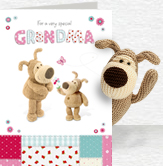 Boofle For Grandma card and plush 5x7 Folded Card