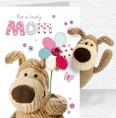 Boofle Flower For Mom card and plush 5x7 Folded Card