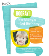 Birthday Hooray! Blue 5x7 Flat Card
