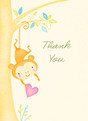Baby Shower Monkey Thank You 3.75x5.25 Folded Card