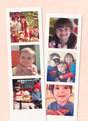 Photo-strips on Cream 3.75x5.25 Folded Card
