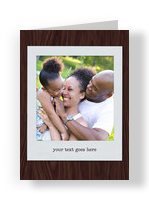 Custom Greeting Card - Photo on Wood 3.75x5.25 Folded Card