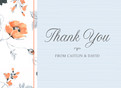 Traditional Floral Thank You 5.25x3.75 Folded Card