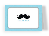 Baby Boy Little Gentleman Thank You 5.25x3.75 Folded Card