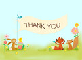 Baby Book Shower Thank You 5.25x3.75 Folded Card