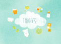 Shower of Baby Items Thank You 5.25x3.75 Folded Card