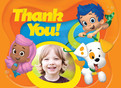 Bubble Guppies Photo Thank You 5.25x3.75 Folded Card