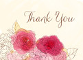 Pink Floral Thank You 5.25x3.75 Folded Card