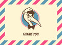 Stork Service Thank You 5.25x3.75 Folded Card