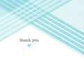 Blue Diagonal Thank You 5.25x3.75 Folded Card