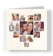 Heart-shaped Photo Collage 4.75x4.75 Folded Card