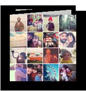Photo Card - 16 Squares 4.75x4.75 Folded Card