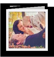 White Border with Sunshine Overlay 4.75x4.75 Folded Card