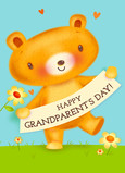 Grandparents Day Banner 5x7 Folded Card