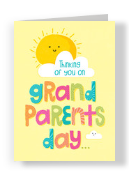 Sunshine Grandparents Day 5x7 Folded Card