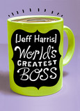 World's Greatest Boss Mug 5x7 Folded Card